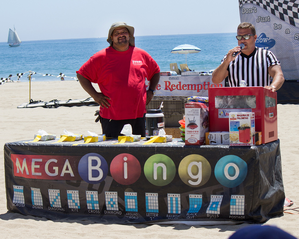 Playing Mega Bingo on the Beach of Santa Monica