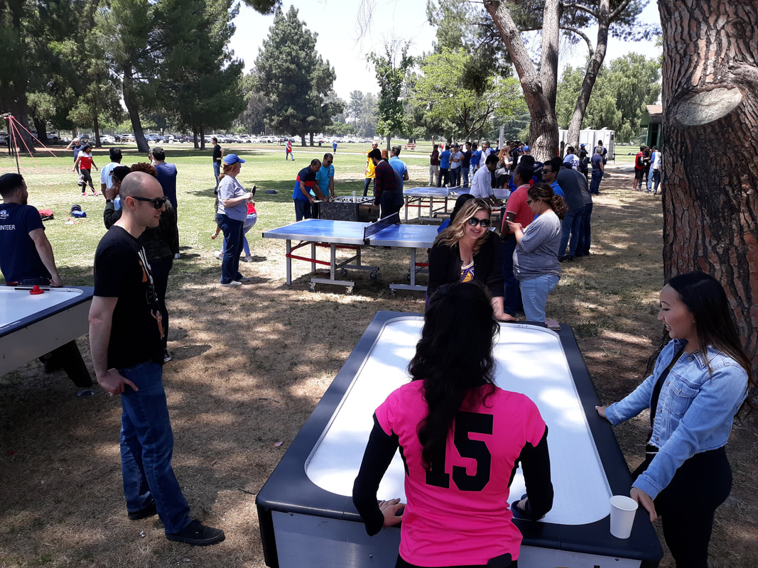 Air Hockey Table Rentals for Company Picnics