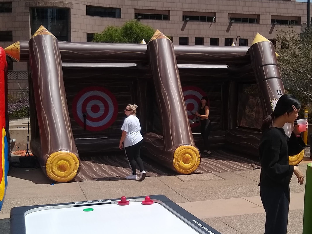 Axe Throwing Inflatable Game Rental