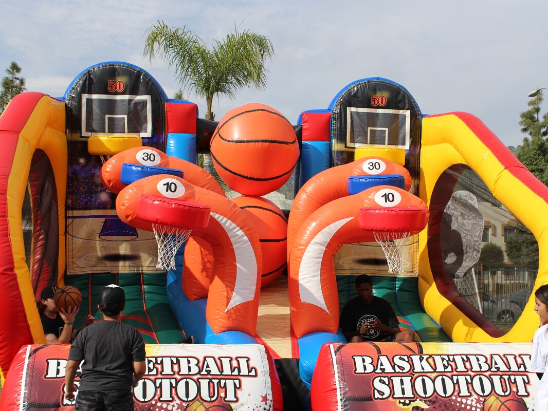 Basketball Inflatable Game Rentals Los Angeles