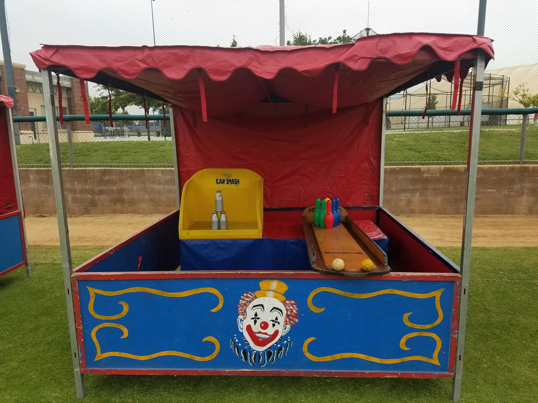 Carnival Games for Corporate Events Milk Bottle Smash and Roller Ball Bowling