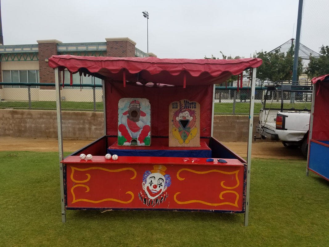 Carnival Games for Corporate Events Big Mouth Toss and Pitcher Baseball Toss