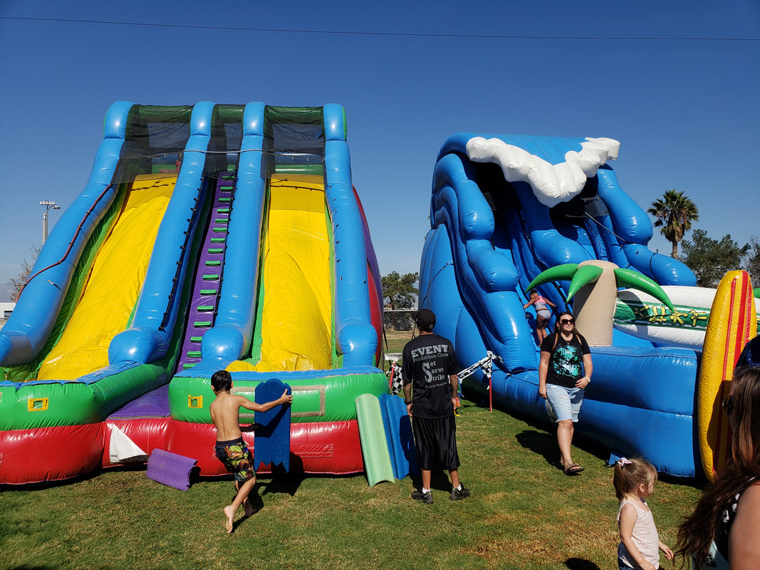 inflatable water slides mira loma company picnics