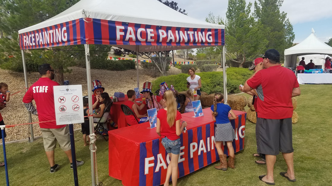 Face Painting Booths for Company Picnics