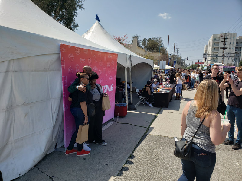 Vegan Street Fair Photo Opp Area (with custom graphics)