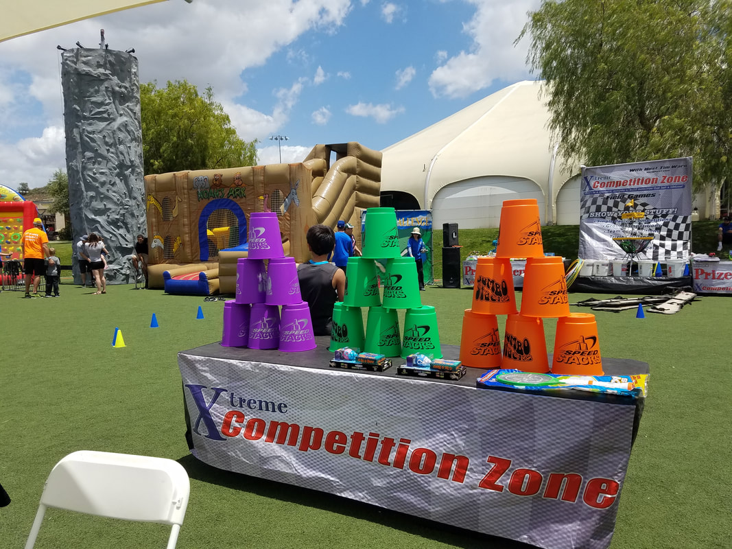 Cup Stacking Game Rental Riverside, Los Angeles and Orange County