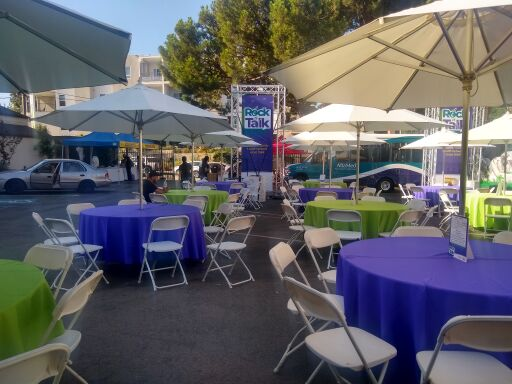 Downtown Los Angeles Event Tables and Chairs