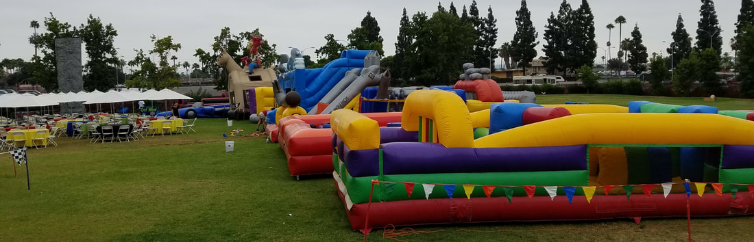 inflatable obstacle course rentals for company picnics