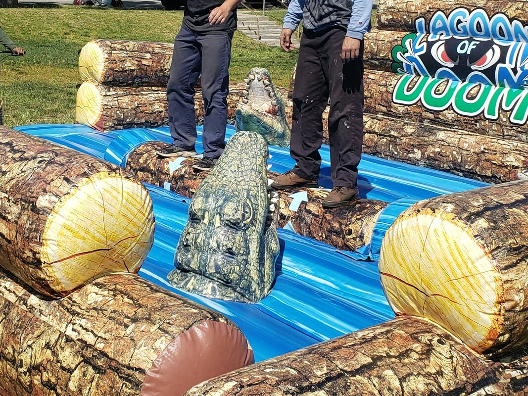 Lagoon of Doom Log Roll Inflatable