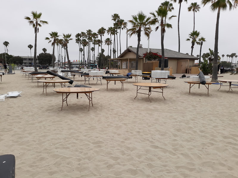 Table and Chairs Rentals for Company Picnics in Long Beach