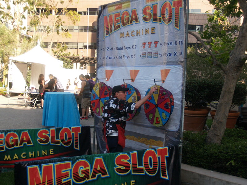 What Mega Casino party would be complete without the Mega Slot Machine?