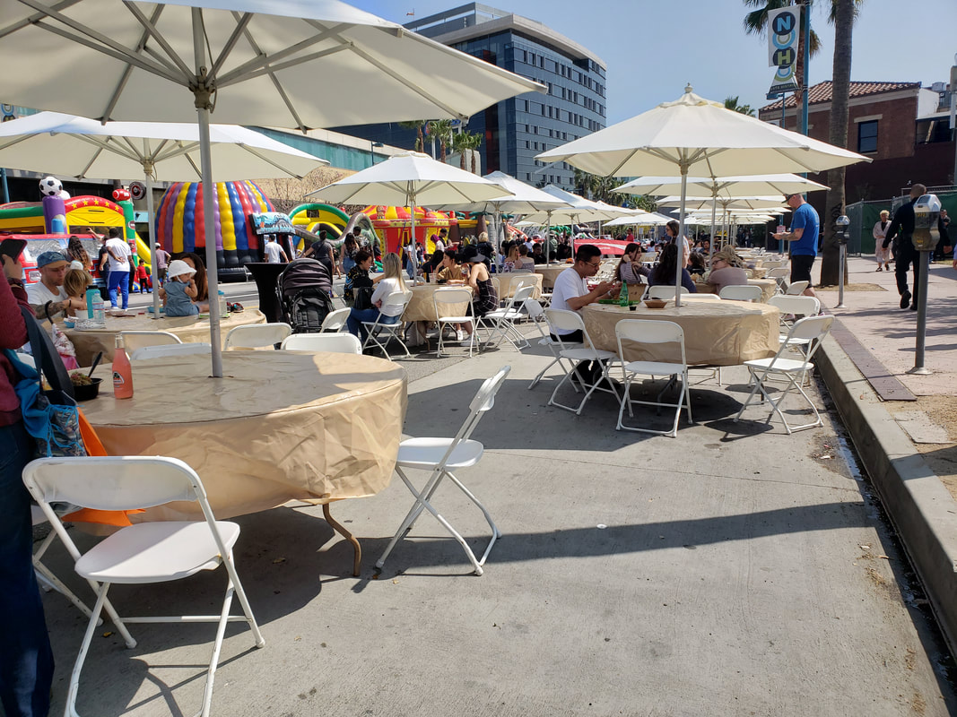 Corporate Event Outdoor Seating North Hollywood Vegan Street Fair