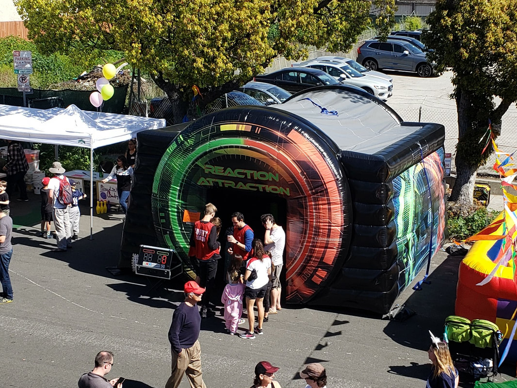 Reaction Attraction Interactive Inflatable Games For Corporate Events