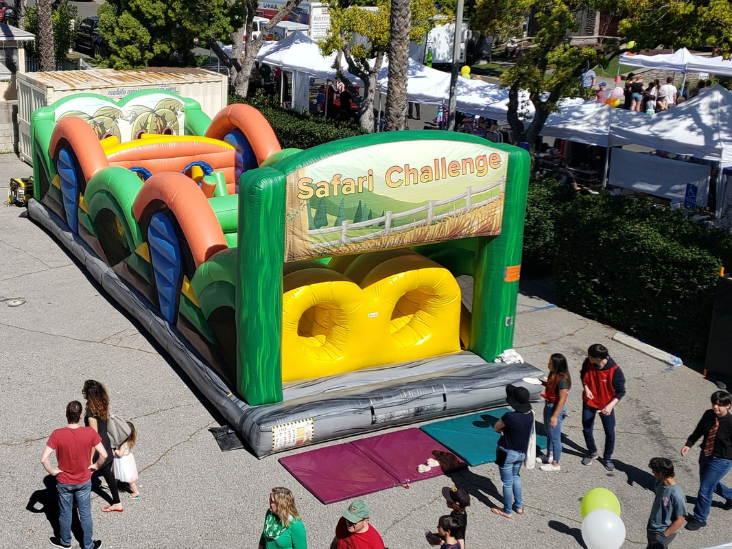 Safari Challenge Inflatable Obstacle Course