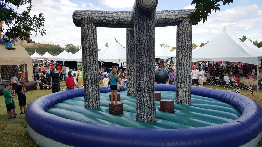 Timberland Inflatable Bounce Arena for Corporate Events and School Fun Fairs and Carnivals