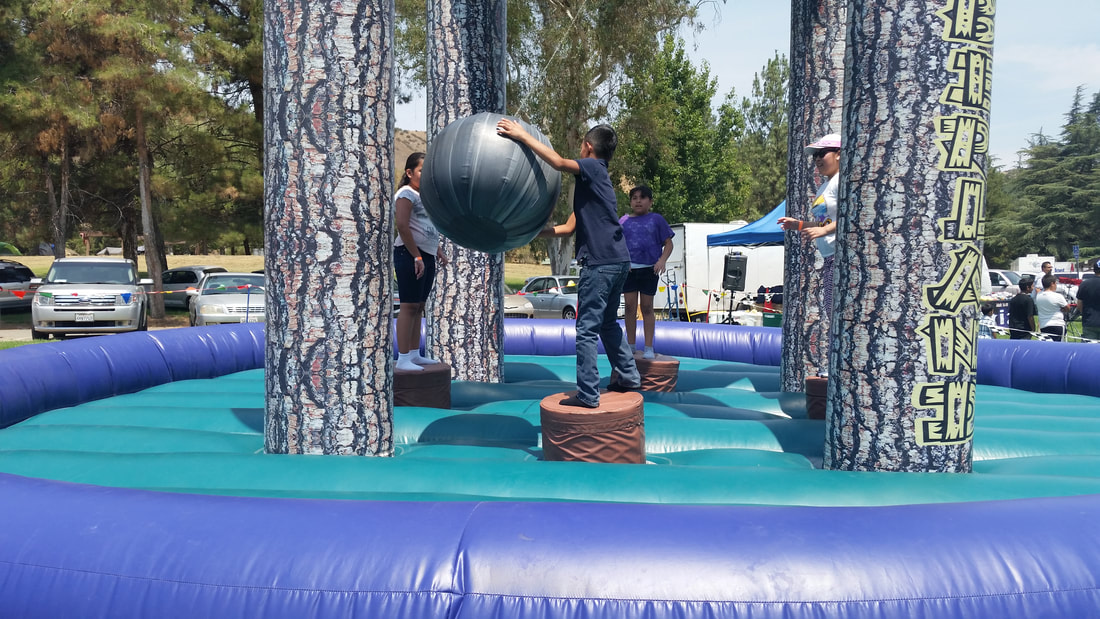 Timberland Wrecking Ball Inflatable Arena for Corporate Events and Company Picnics