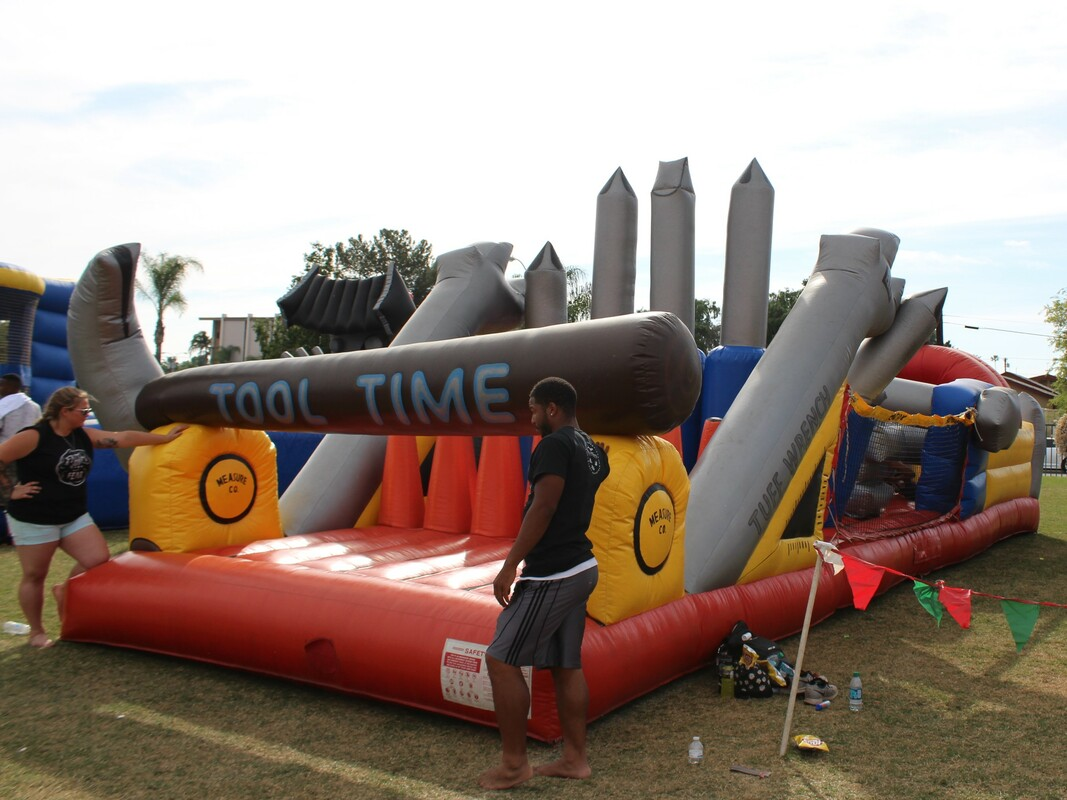 Tool Time Obstacle Course Inflatable