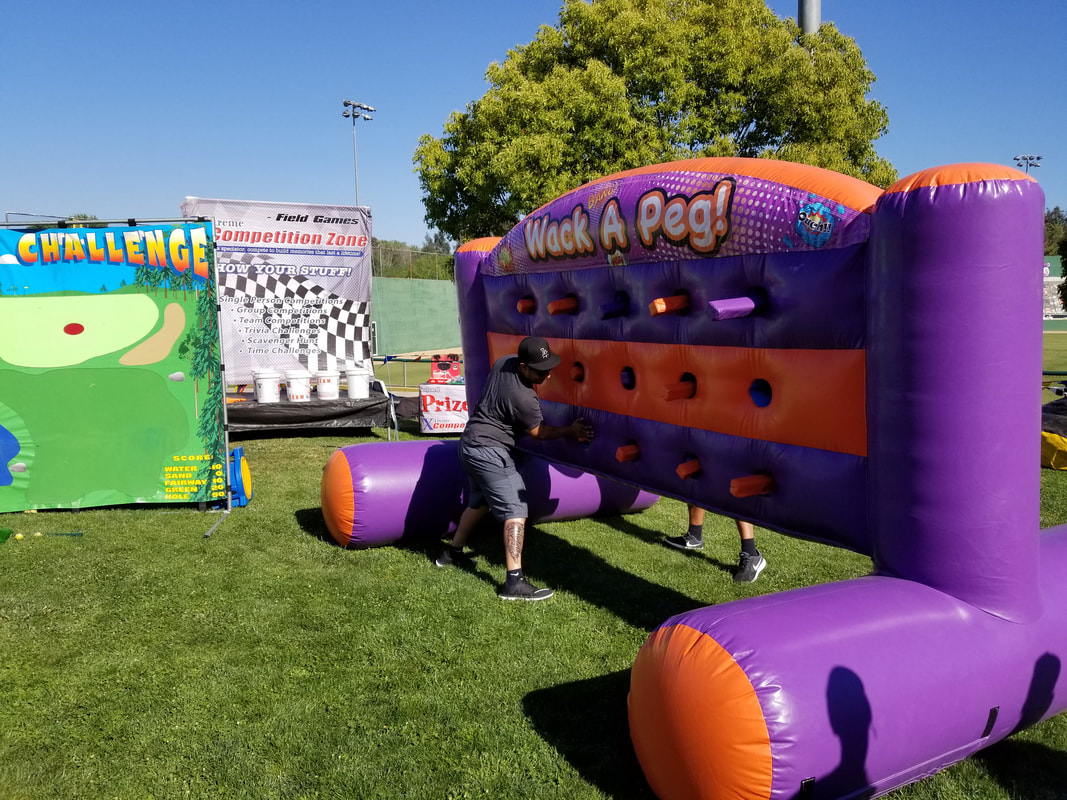 Whack A Peg Inflatable Game Rental for Events Los Angeles, Orange County, Riverside, San Diego
