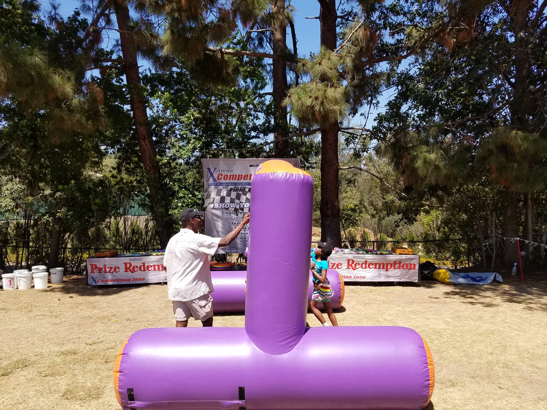 Whack A Peg Inflatable Game For School Events, Community Fun Fairs and Carnivals in Southern California
